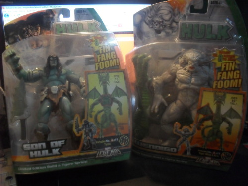 Today's Toy Haul: Marvel Legends Skaar and Wendigo from the Fin Fang Foom Build-A-Figure