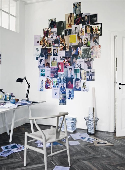decorate with magazines pictures