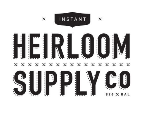 The Instant Heirloom Supply Co. Logo from Andy Mangold. Minimalism, but on the way that you've never thought. I'm featuring this young guy because when I browse through the logos and the projects they're make me feel a kind of style that really inspires my work. Unique and perfect ratios all over his work.