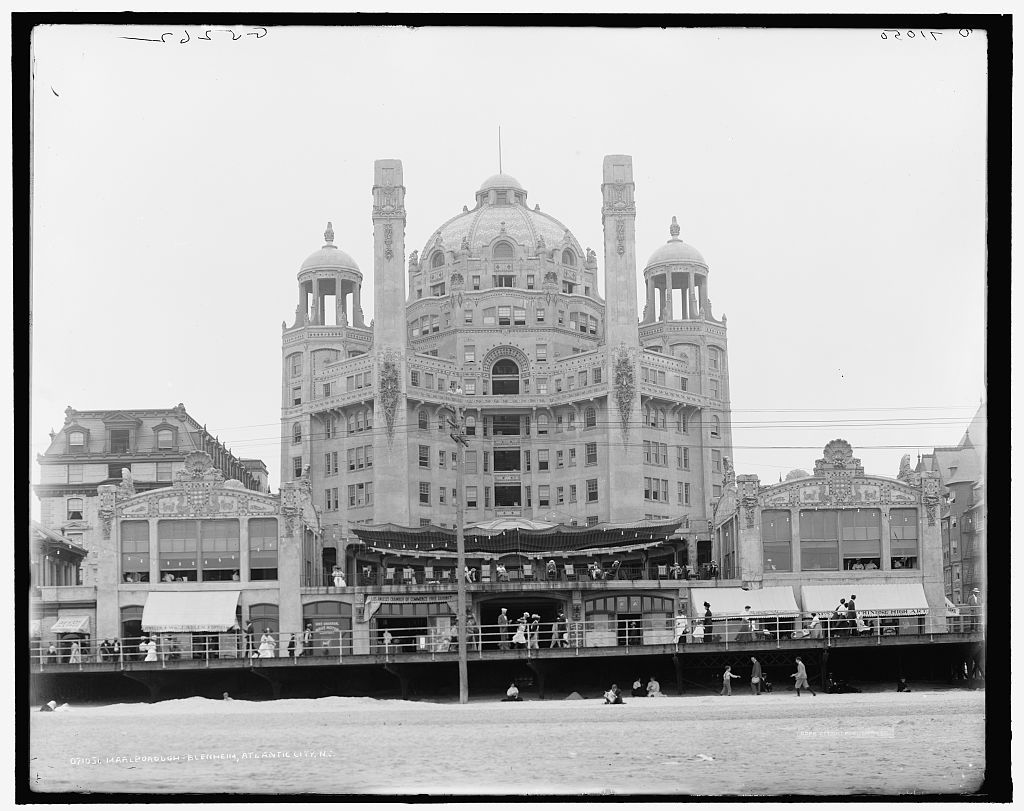 The Marlborough-Blenheim Hotel around 1900, Atlantic City