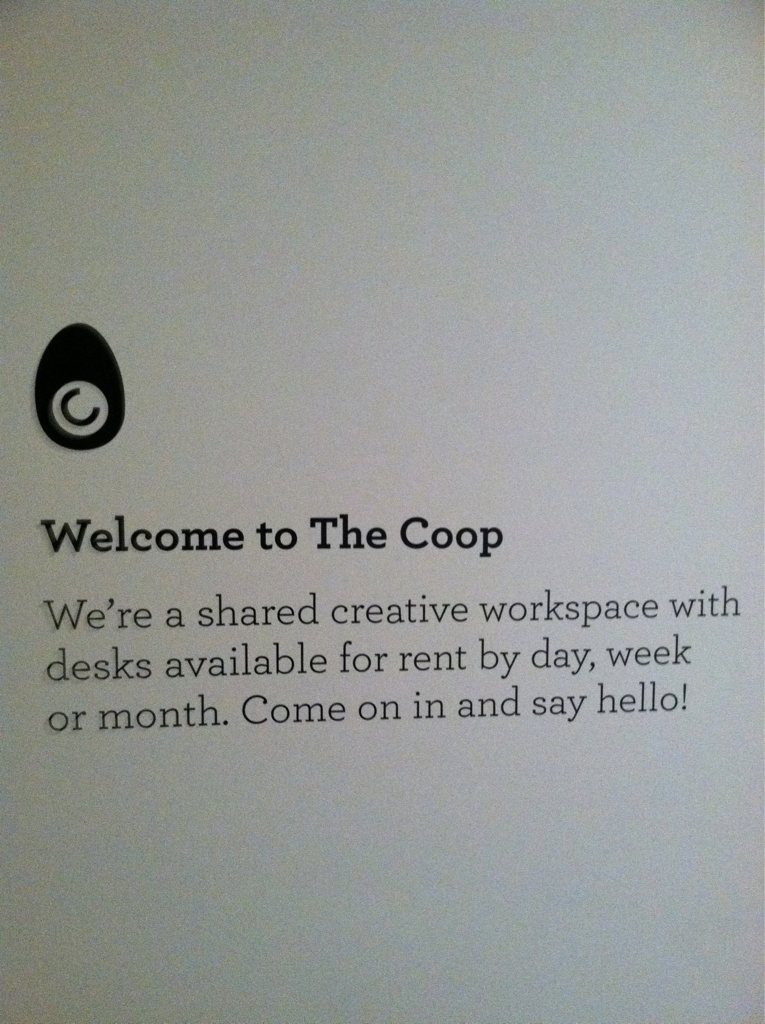 The Coop is the shizzz… Love our Uber Chi space!
