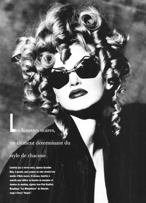 nadja auermann by max vadukul / vogue paris april 1992