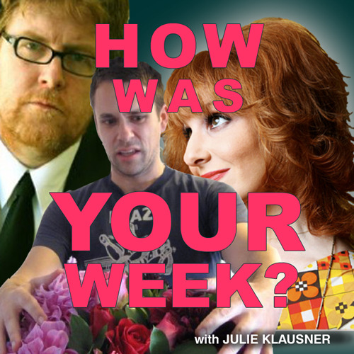 "julieklausner:  Get the new episode of my podcast from iTunes, or download/stream it directly here! How Was Your Week: Episode 22""Rave Withdrawal"" On this week's episode of How Was Your Week?, the wonderful STEVE  AGEE (""The Sarah Silverman Show"") discusses his favorite TV show of all  time, ""Three's Company,"" and lists his three most cherished episodes.  Then, the hilarious BRYAN SAFI (That's Gay on Current TV) tells Julie about his HORRIFYING SPIDER BITE EXPERIENCE  and about the time he met Sharon Stone. How will you ever be able to  sleep again once you hear these tales in tandem?? Plus: ""Scrubbings"" creator Bill Lawrence's diatribe against a bad  review, why Morgan Spurlock will never be in the Redhead Hall of Fame,  what palladium pants are, and how Sharon Stone orders chamomile tea. Also! The Terri/Cindy/Chrissy conundrum! How you're not supposed to  cancel lunch with George Hamilton! And Agee's Three's Company spec  prequel. A fun, excellent and occasionally gross episode—some of which was RECORDED IN JULIE'S RENTAL CAR! That is a bonus fun fact.  Host: Julie KlausnerGuests: Steve Agee, Bryan SafiProduced by Chris SpoonerOriginal Artwork by Marcia NeumeierMusic by Ted Leo **PLEASE REBLOG/ REUSE/ RENEW***  These are all things that are good. YOU DON'T HATE THINGS ARE THAT ARE GOOD. (You love them with downloads.)"