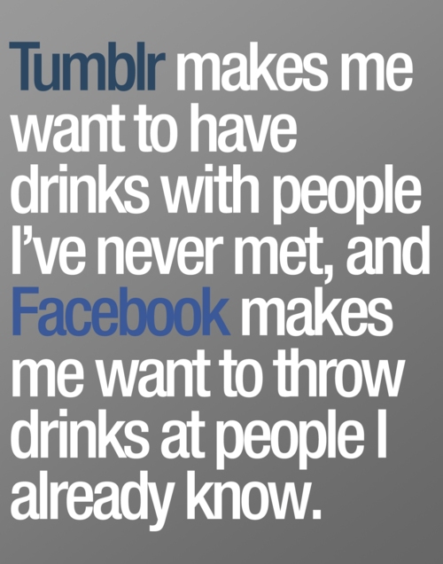 tumblr vs. facebook
