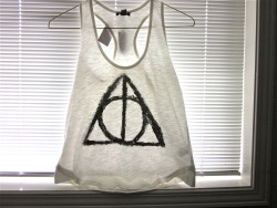 Deathly Hallows Shirt   Size Small  Free-hand painted  $10