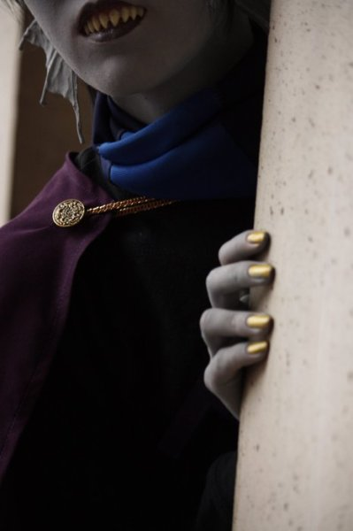 thecosplaygods:  Eridan Ampora from Homestuck The Cosplay Gods highly approve of those teeth.