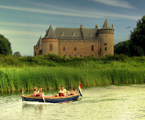 allthingseurope:  Sailing along the Muiderslot, Netherlands (by B℮n)