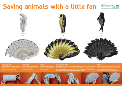 Earthwatch Institute Saving animals with a little fan - clever campaign!