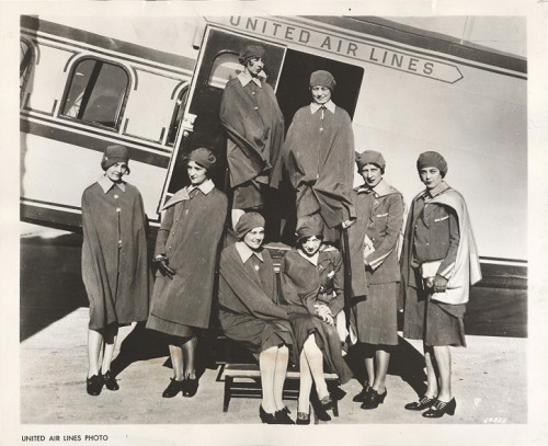 United Airlines stewardesses, 1930's