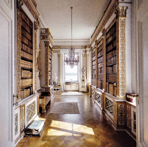 bookmania:  Library at Elghammar manor, Sweden. (via booksnbuildings)  this is beautiful <3