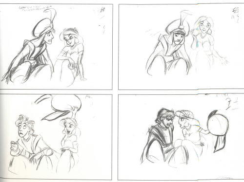 ajowithablog:  Aladdin and Jasmine by Glen Keane and Mark Henn.