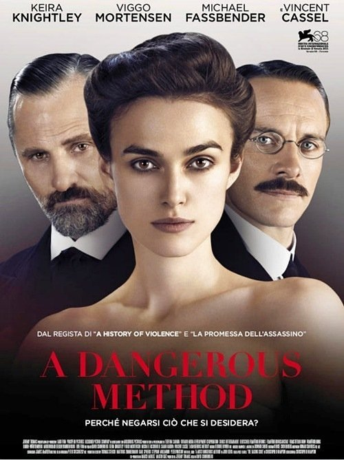 fuckyeahmichaelfassbender:  Poster for A Dangerous Method. Can anyone translate this?