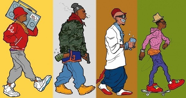 Evolution of Hip Hop…  The game just went far left all of a sudden. What happened?!!!   if you think this is the evolution of hip hop, you've never seen a classic RUN DMC or Grandmaster Flash and the Furious Five cover. them nigs had on skinny jeans and coon tailed hats. and other shit we find questionable today. style of dress has come full circle, subject matter hasn't really changed that much, and there's still great music out there.  i'm just not happy about the return of nut huggin ass jeans.