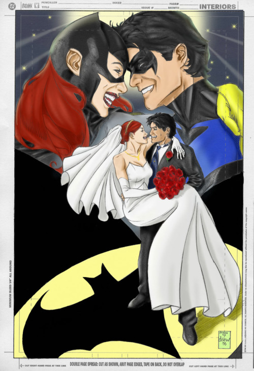 comicbookkissyface:  I'm ending with this because it's what I want for my anniversary. :) Maybe some day… Anyway, I hope you all have a fabulous weekend, and again, thank you for all the nice words and well wishes!  Still my only serious Babs involved OTP. I ship Babs/Dinah, but Babs/Dick… that is my weakness.