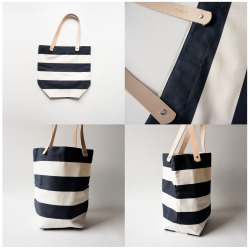 thingsofinterest:  iamsangsouvanh:  rib & hull - Navy White Striped Canvas Tokyo Tote  practically right out of my initial designs for my senior collection.