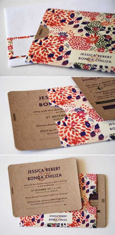 Pretty wedding invites! (via pinterest)