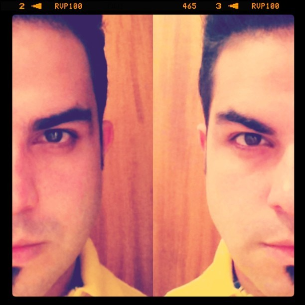 The 2 expressions in 1 face… Inspired by @jebo88 photography (Taken with instagram)
