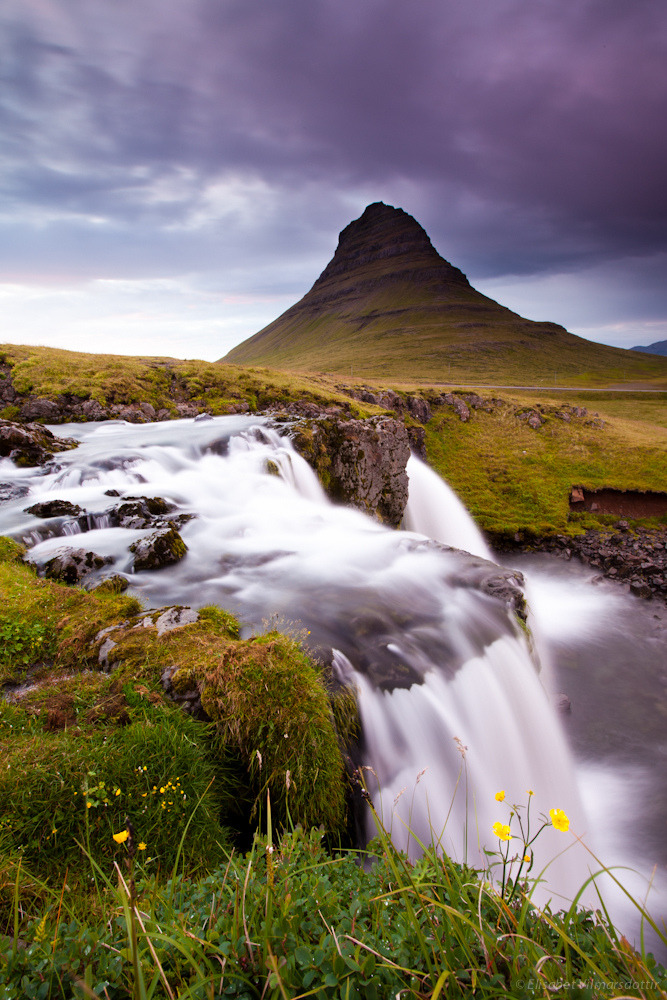 That's it. I'm moving to Iceland. Right now.  landscapelifescape:  Kirkjufell, Iceland (by betusmaximus)