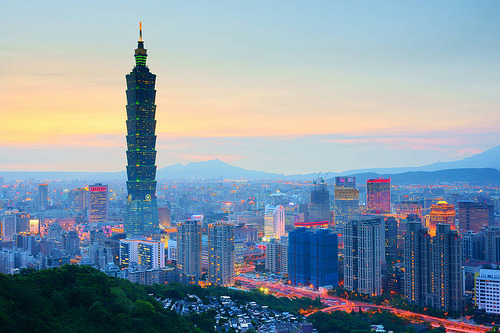台北101 - Early night view of Taipei 101 (by prince470701)