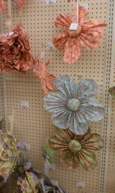 Found these beautiful paper flowers tonight at Hobby Lobby!