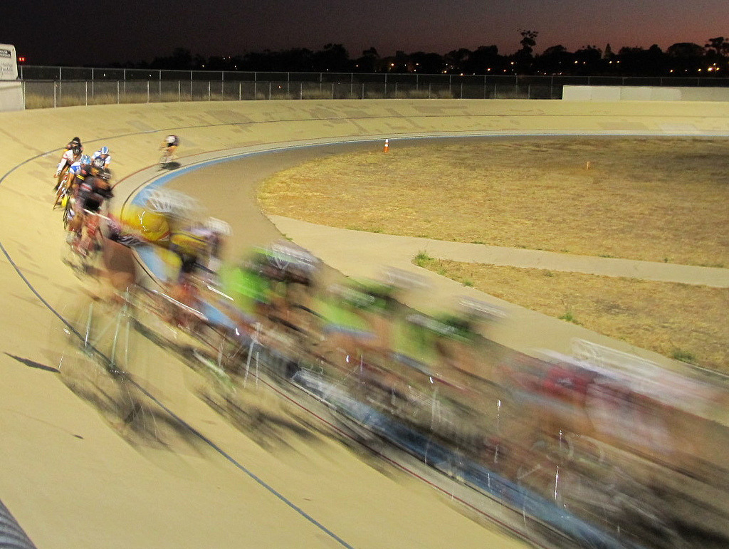 SAN DIEGO VELODROME BLUR   A nice shot of the Tuesday night action at San Diego Velodrome.  Photo taken by SD Urban.  Don't forget about the Upgrade Race Series starting tomorrow.