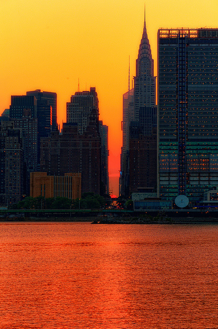 Manhattanhenge 2011 by mudpig on Flickr.
