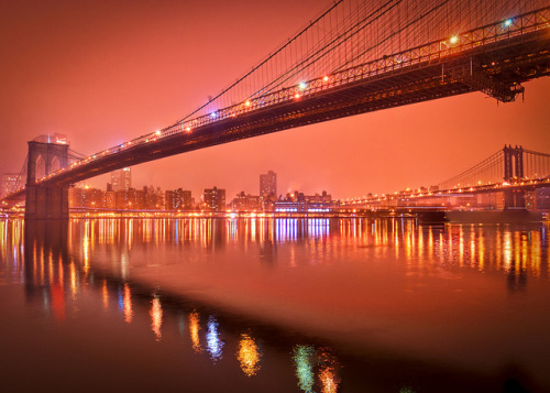 New York City East River reflections by mudpig on Flickr.