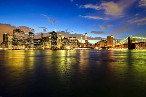 new york city & the brooklyn bridge by mudpig on Flickr.