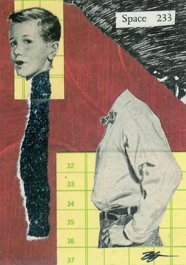 [Hoop and Stick Trading Card 20] 'High on Science' - Collage on Card Stock 2011