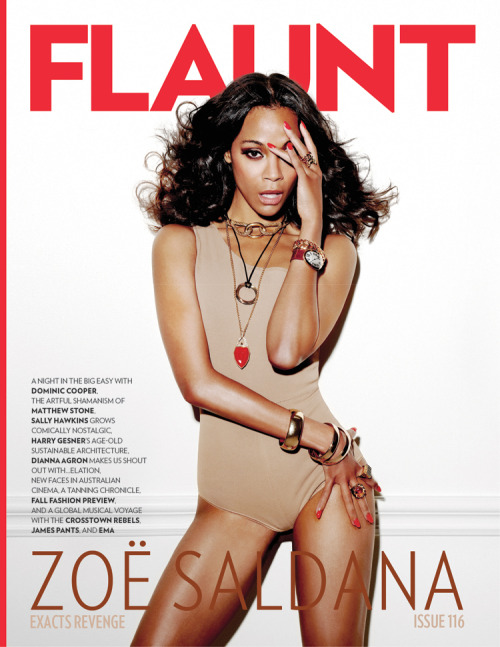 Zoe Saldana (Flaunt magazine, September 2011)