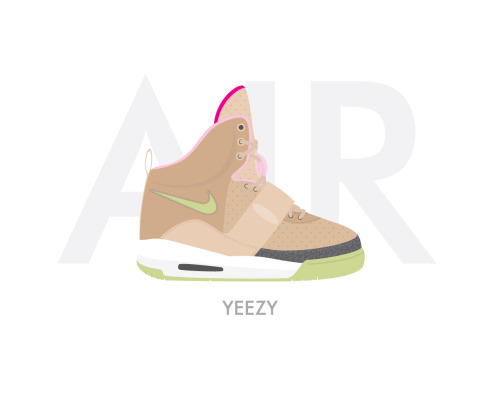 Nike Air Yeezy - Tan by Bruce Yan