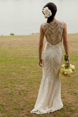 The back to the dress is stunning.