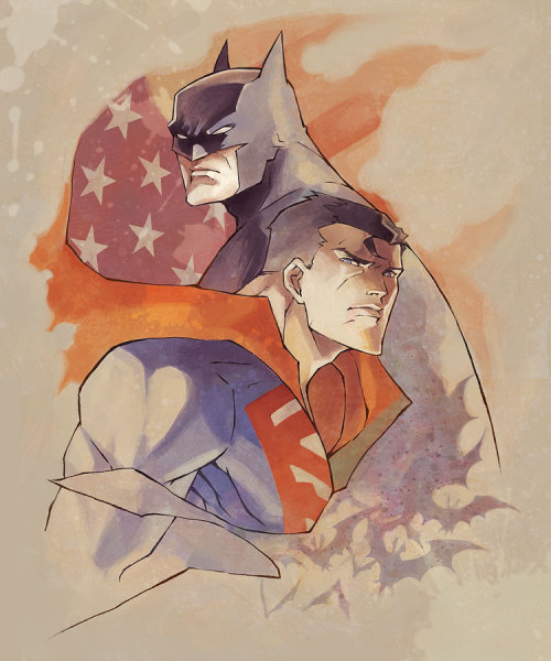 xombiedirge:  Batman and Superman by Ai-eye