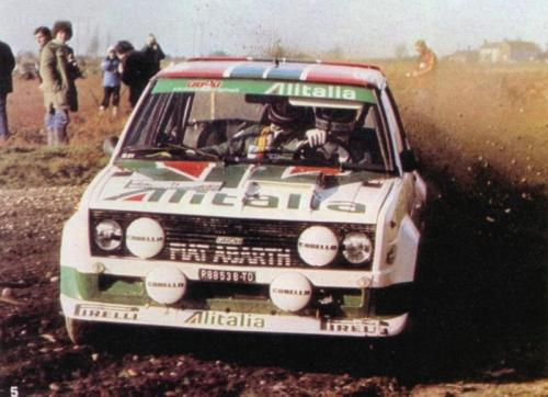 Rally RAC — 1978 Walter Röhrl on the Fiat 131 Abarth.
