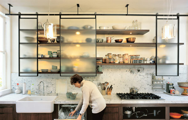 enochliew:  Open kitchen shelving