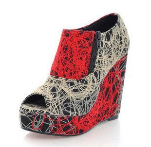 Scribble wedge bootie = $50