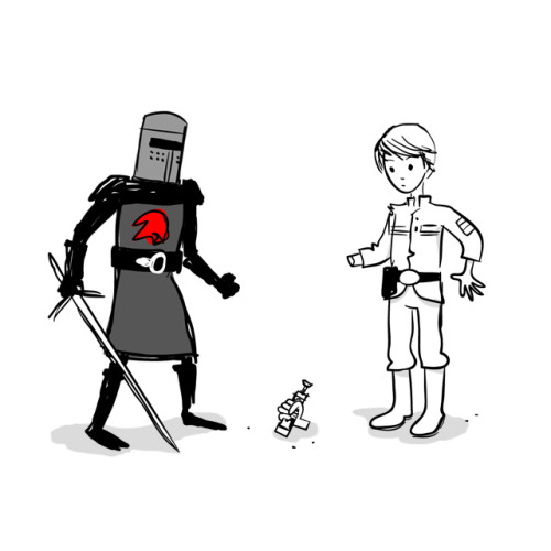 It's just a flesh wound. illustration by Mitch Ansara :: via flickr.com