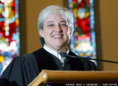 "Baptist Minister Protests Lack of Marriage Equality  A lesbian minister in North Carolina has joined the ranks of those willing to officiate marriage ceremonies but not sign licenses until gay couples' marriages have the same legal recognition as heterosexual ones.Nancy Petty (pictured), pastor of Pullen Memorial Baptist Church in Raleigh, recently told her congregation she would prefer that straight couples have a magistrate at the local courthouse sign their license. She is waiting to hear if church deacons will endorse her position and if a vote of the congregation will be necessary, the Associated Press reports.""I'm perpetuating what I believe is an unjust law,"" Petty said. ""I don't sign birth certificates. I don't sign death certificates. I do baptisms. I do funerals. There's no other ritual of the state that I have to sign a document.""Pullen Memorial has a history of progressive activism; its leaders opposed segregation and the Vietnam War. It has blessed same-sex unions since 1992 and was expelled from the Southern Baptist Convention for doing so.Petty, the church's first woman pastor, estimates that she has conducted about 75 marriages for straight couples and an equal number of holy unions for same-sex pairs since she began her tenure in 2002. It is one of the few churches in North Carolina that will perform same-sex unions. ""I have people drive here from all over the state,"" Petty said.In April a Disciples of Christ congregation in Louisville, Ky., announced that its ministers would no longer sign marriage licenses, as a protest against marriage inequality."