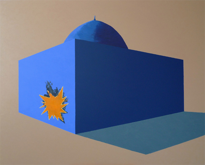 Wiktor Dyndo (PL) - Islam vs terrorism, 160 x 120 cm, 2009 oil on canvas