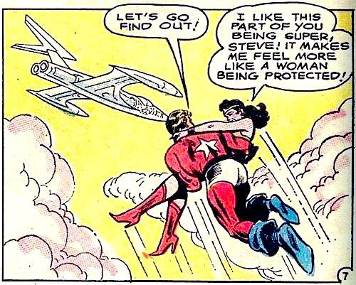 turner-d-century:  comicallyvintage: Steve - you make her feel like a natural woman.