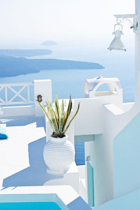 handa:  Santorini in Blue, Greece   photo via traveline  one day, just one day.