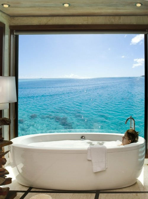 sunsurfer:  Ocean View Spa, Bora Bora  photo via hilton