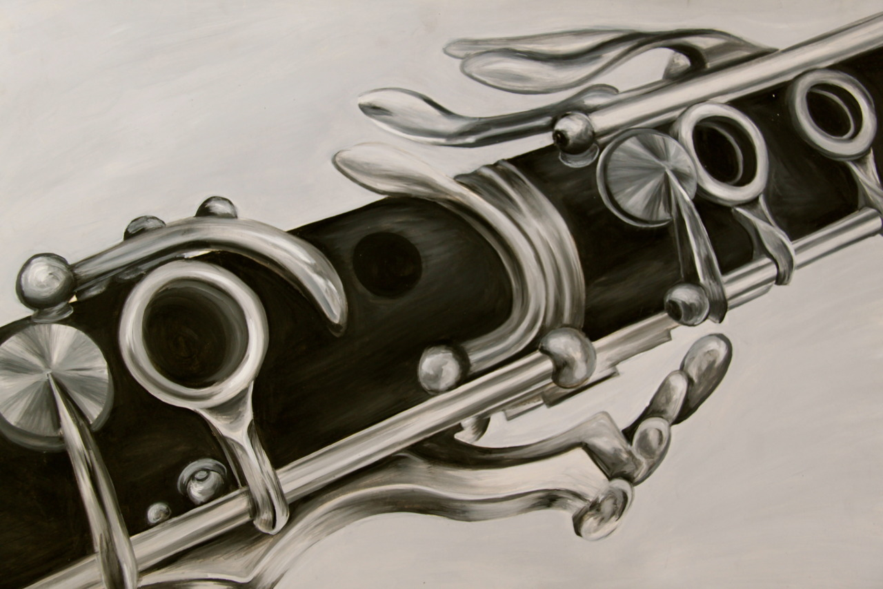 oil painting of my clarinet…..haven't played in about year, probs should sometime….