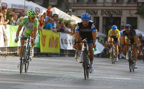 Tour de Pologne 2011 | Stage 7 Sagan gives Haussler some grief for nabbing intermediate sprint points ahead of him. (via 68. Tour de Pologne)