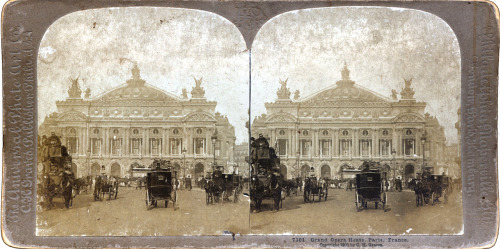 Grand Opera House, Paris, France, 1900. A 111 years old stereogram, by The Universal Photo Art Co. Philadelphia, Naperville, Illinois. Photo: Carlton Harlow Graves (nb: stereoviews issued under his own name are extremely rare).