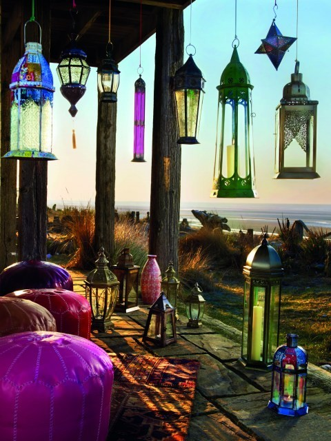 sunsurfer:  Lanterns by the Sea, California photo via pixdaus