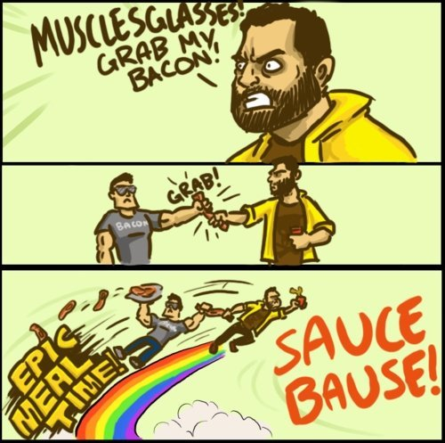 aaranthebaconninja:  BECAUSE TONIGHT I'M THE SAUCE BAUSE!!!!