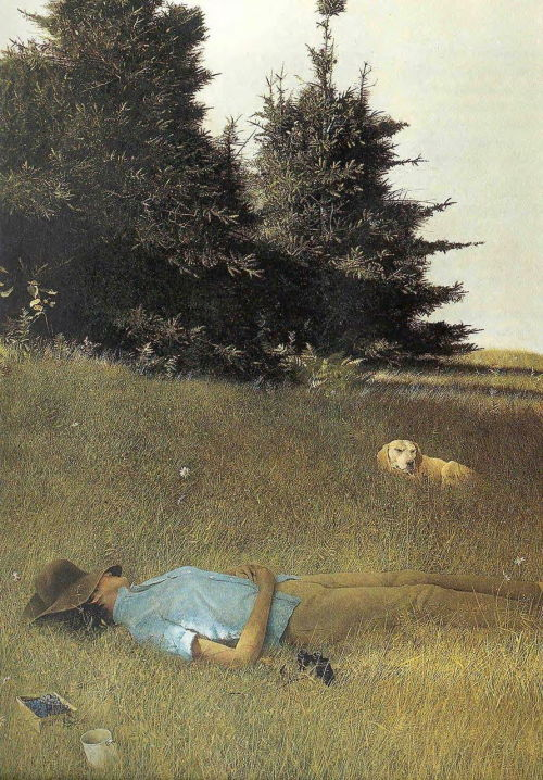 lifeselixirs:  Summer painted by © Andrew Wyeth A few more days of this bliss.