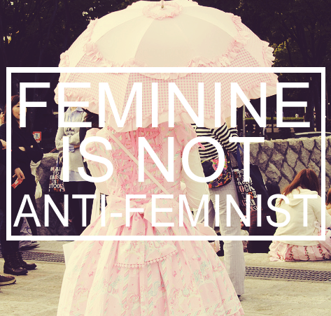 "thusspakekate:  You know what is awesome? Feminine feminists. Why? Because they reject the patriarchal narrative of what it means to be an empowered woman. The patriarchy has made a space for ""the feminist"" within its structure and deemed her to be a hairy-legged, man-hating caricature. Now, I might not be the most feminine chick in the beauty salon (as my luxurious armpit hair will demonstrate) but the fact that I can shut down a sexist without getting any lipstick on my teeth makes me awesome.  By rejecting femininity wholesale, you're actually agreeing with the sexist assumption that masculinity is better, that maleness is the more worthy gender. You can recognize the constructed nature of gender at the same time you perform it."