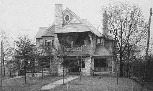 Circa 1895 view of the James C Freeman residence on Peachtree Street near Eighth Street. Midtown Atlanta (via Atlanta History Center Album. James C. Freeman Residence)